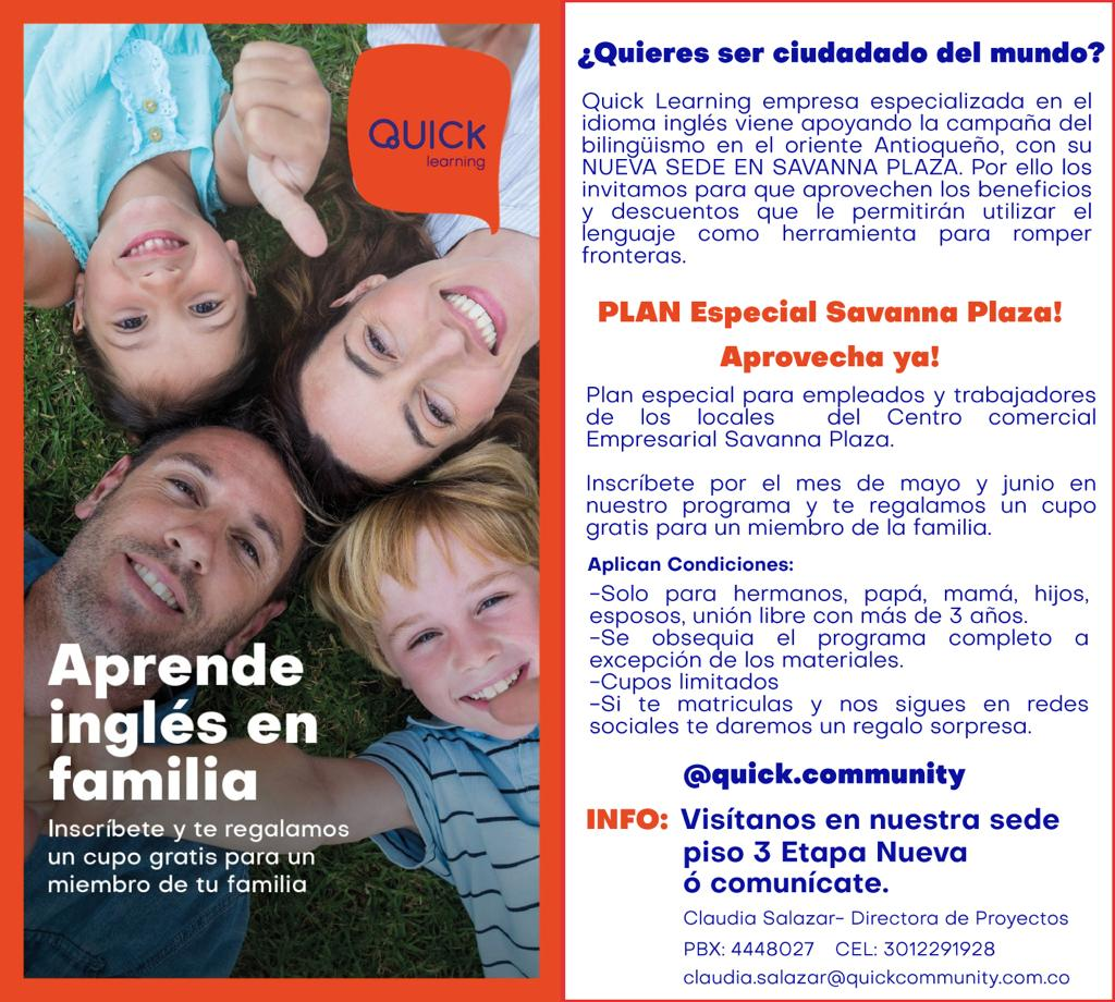 APRENDE INGLÉS EN FAMILIA EN QUICK LEARNING